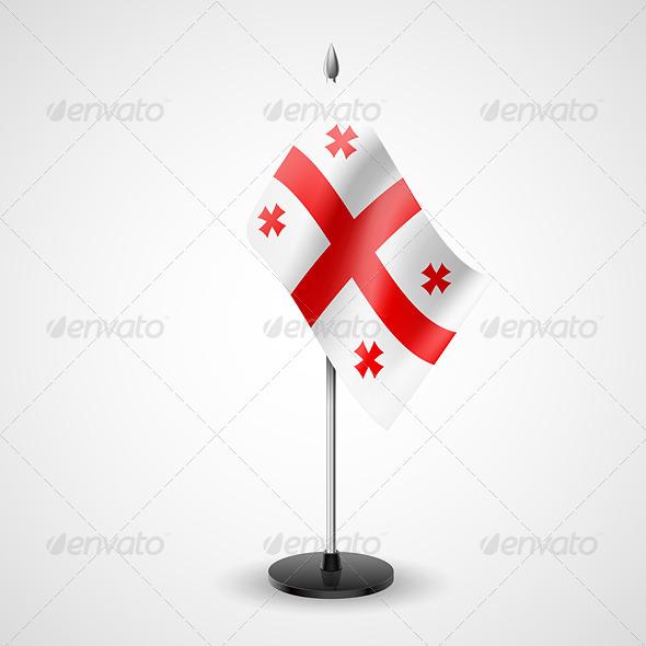 Table Flag of Georgia