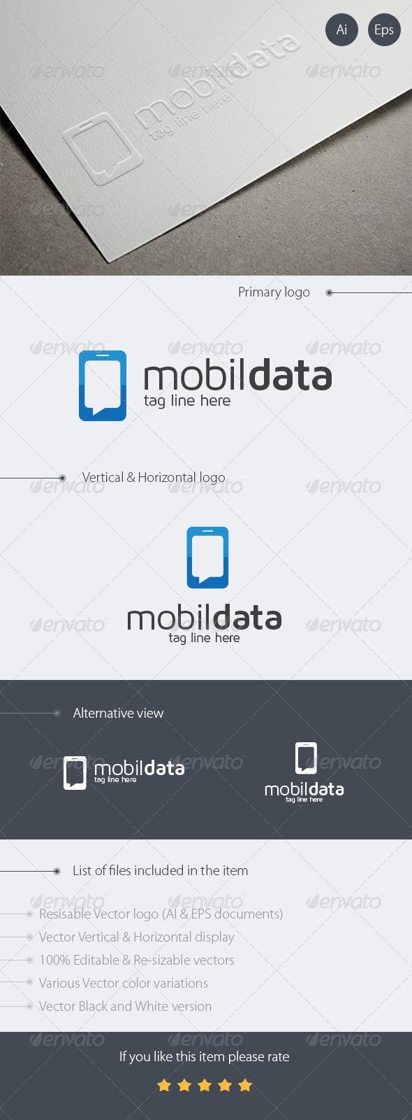 Mobile Data Logo Design