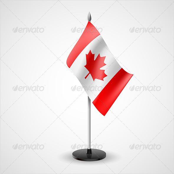 Table Flag of Canada