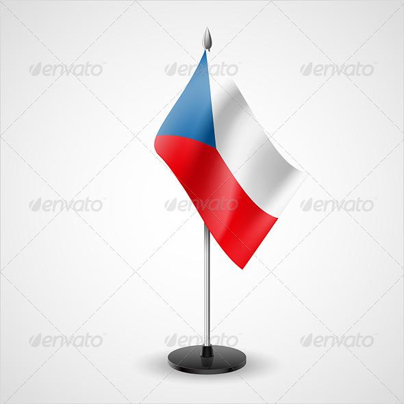 Table Flag of Czech Republic