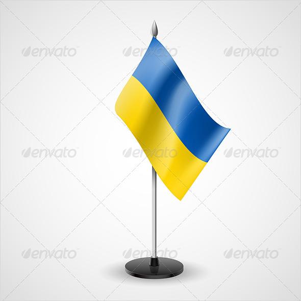 Table Flag of Ukraine