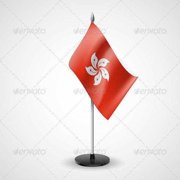 Table Flag of Hong Kong
