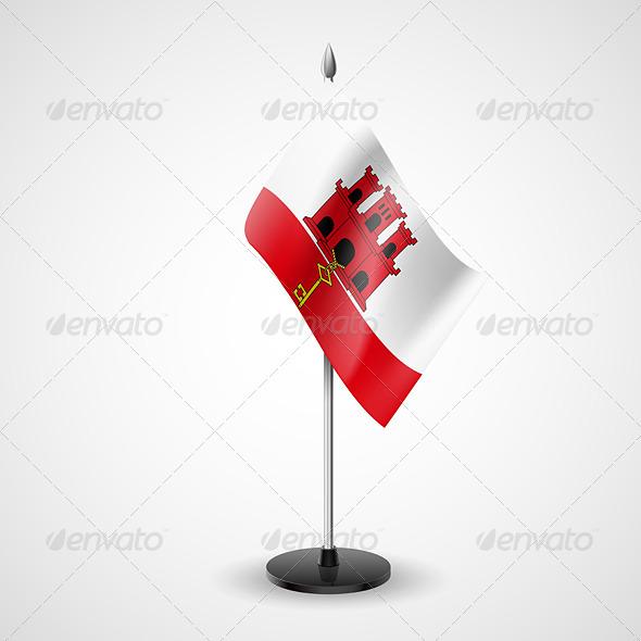 Table flag of Gibraltar