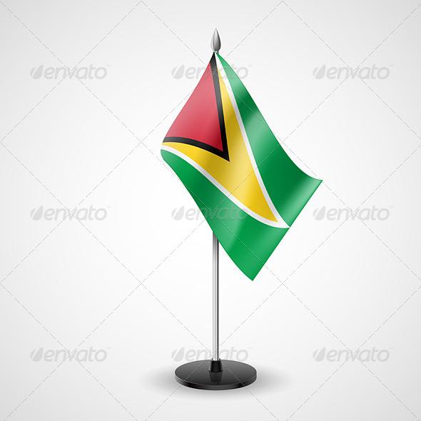 Table flag of Guyana