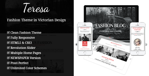 Teresa - A One And Multi Page Fashion Theme