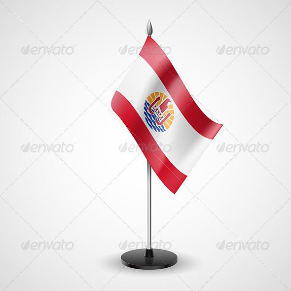 Table Flag of French Polynesia