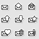 Envelopes Icons as Labels - GraphicRiver Item for Sale
