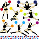 Cheerleaders Silhouettes Set - GraphicRiver Item for Sale