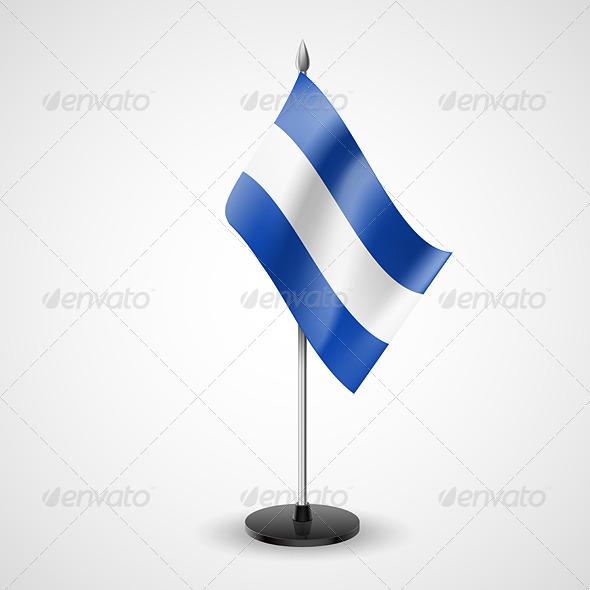 Table Flag of El Salvador