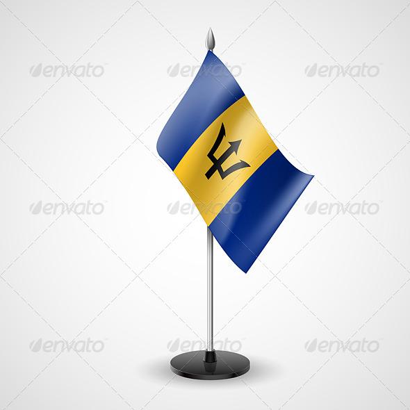 Table Flag of Barbados