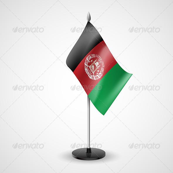 Table Flag of Afghanistan
