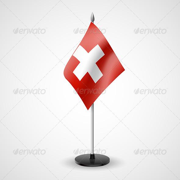 Table Flag of Switzerland