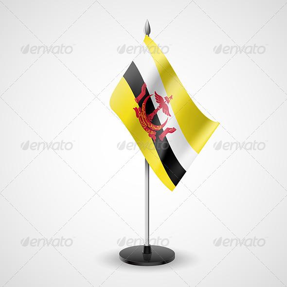 Table Flag of Brunei