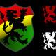 Lion Rastafarian Shield - GraphicRiver Item for Sale