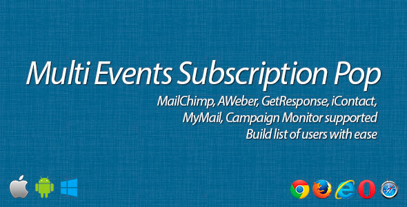 Multi Events Subscription Pop