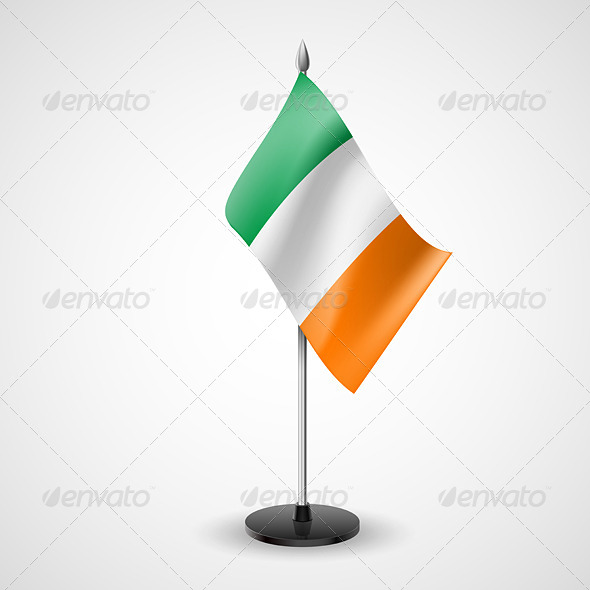 Table Flag of Ireland
