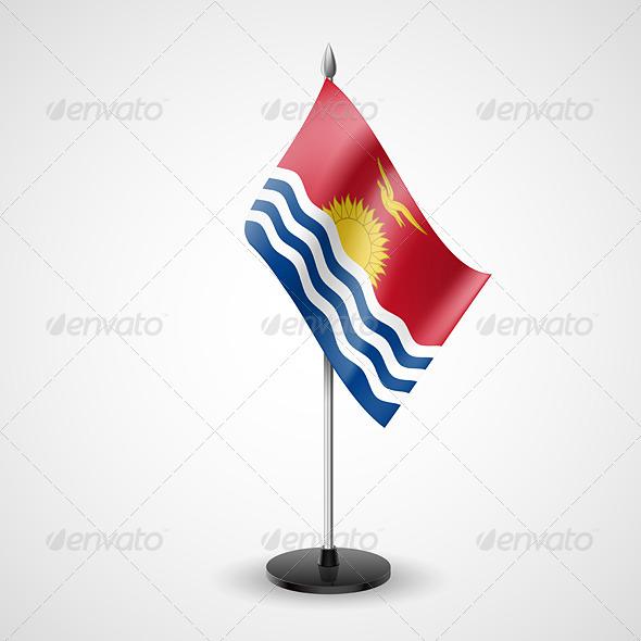 Table Flag of Kiribati