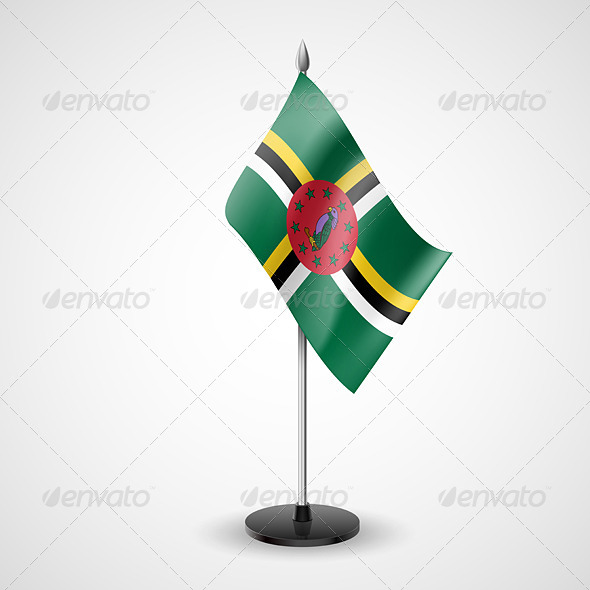 Table Flag of Dominica