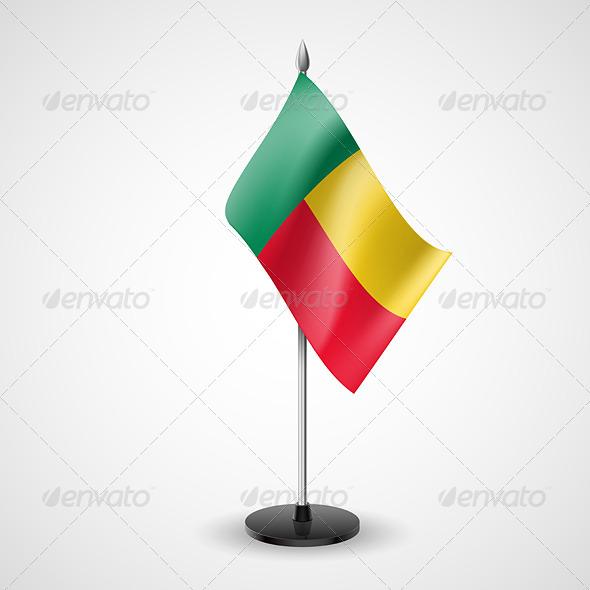 Table Flag of Benin