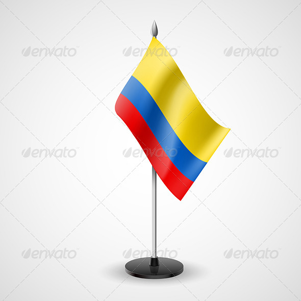 Table Flag of Colombia