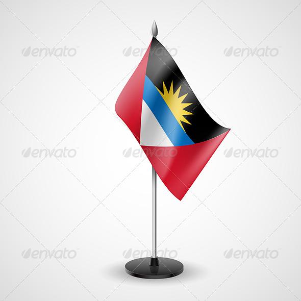 Table Flag of Antigua and Barbuda
