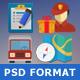 Flat Transport Icon Set - GraphicRiver Item for Sale