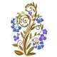 Decorative Floral Colored Pattern with Bluebells - GraphicRiver Item for Sale