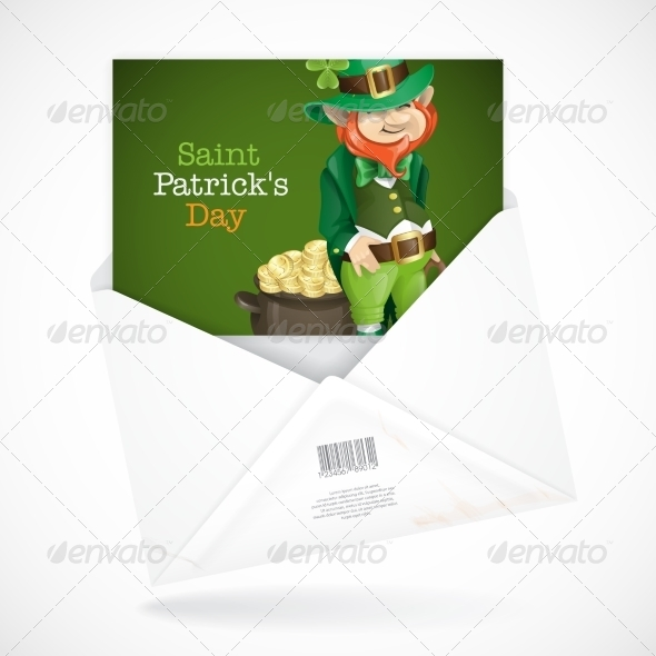 St. Patrick's Day Leprechaun with Pot of Gold