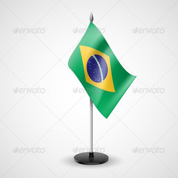 Table Flag of Brazil