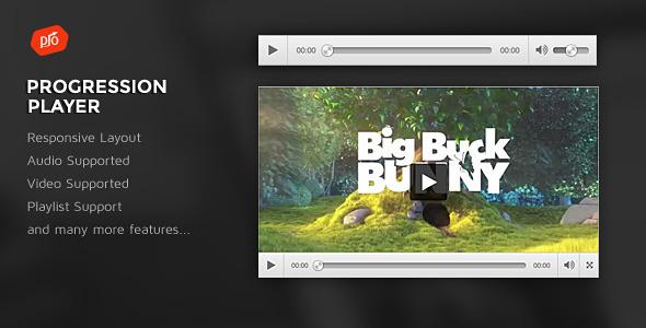 ProgressionPlayer - Responsive Audio/Video Player