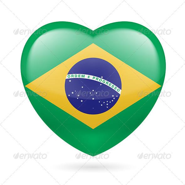 Heart Icon of Brazil