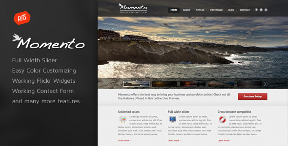 Momento – Photography and Business Template