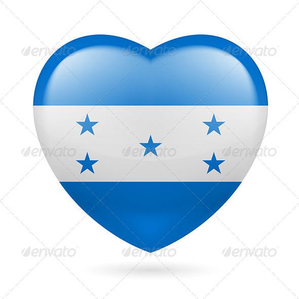 Heart Icon of Honduras