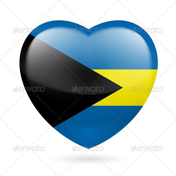 Heart Icon of Bahamas