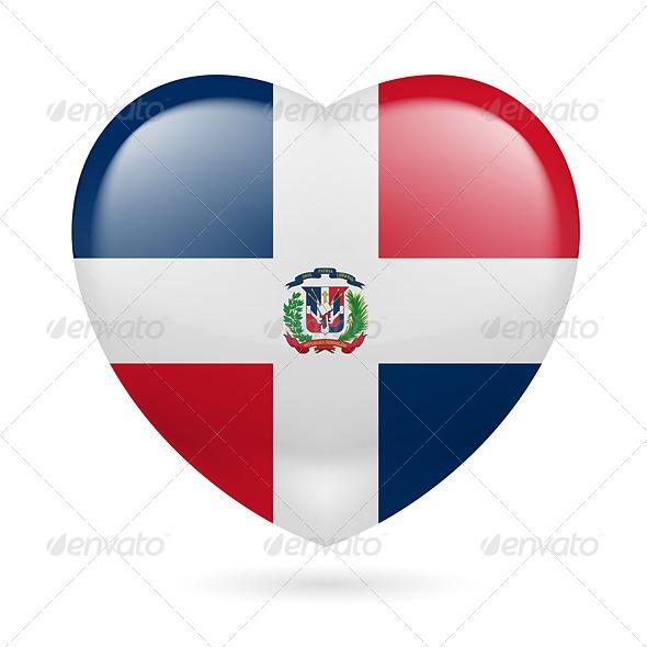 Heart Icon of Dominican Republic