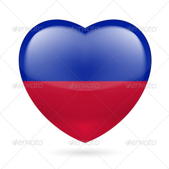 Heart Icon of Haiti