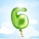 Number Six Balloon - GraphicRiver Item for Sale