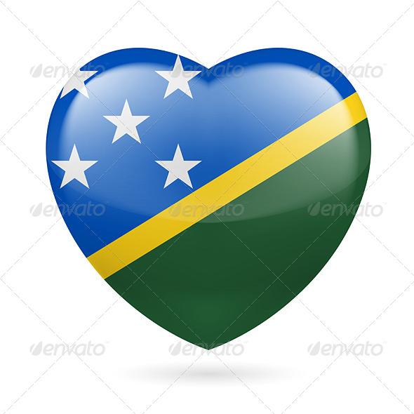 Heart Icon of Solomon Islands