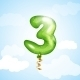 Number Three Balloon - GraphicRiver Item for Sale