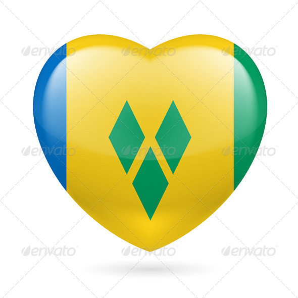 Heart icon of Saint Vincent and the Grenadines