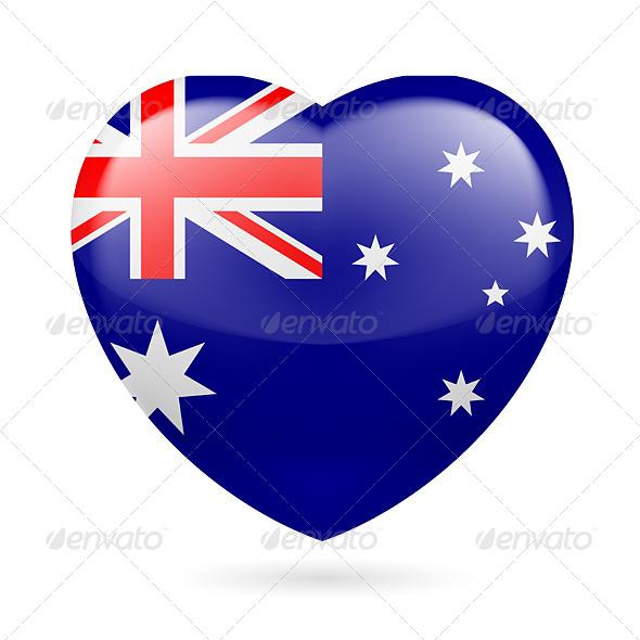 Heart Icon of Australia