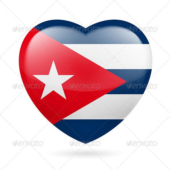Heart Icon of Cuba