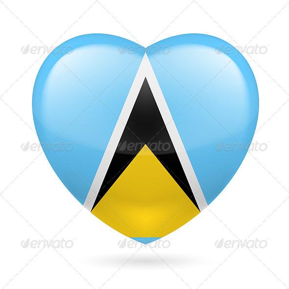 Heart Icon of Saint Lucia