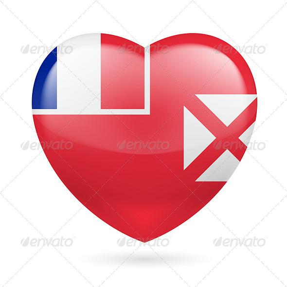 Heart Icon of Wallis and Futuna