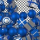 Christmas Balls and Gift Boxes Transition - Blue White - VideoHive Item for Sale