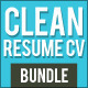 Simple Resume CV Bundle - GraphicRiver Item for Sale