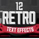12 Various 3D Retro & Vintage Text Effects for Photoshop - GraphicRiver Item for Sale