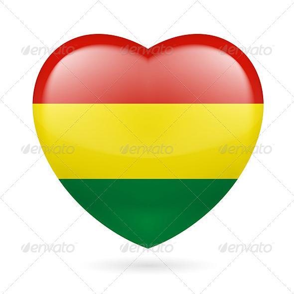 Heart Icon of Bolivia