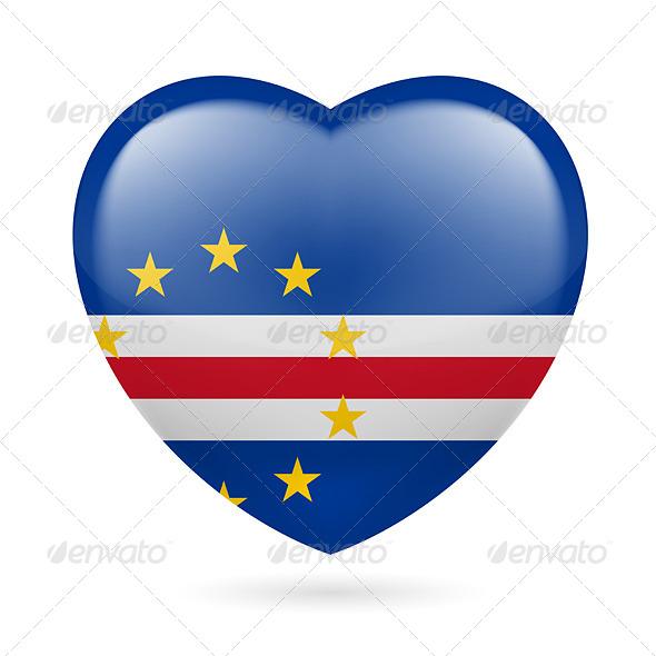 Heart Icon of Cape Verde