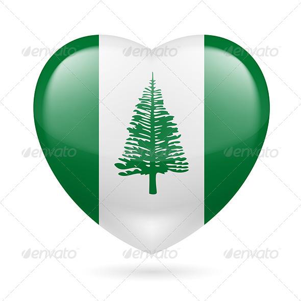 Heart Icon of Norfolk Island
